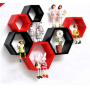 Hexagonal Wall Shelf